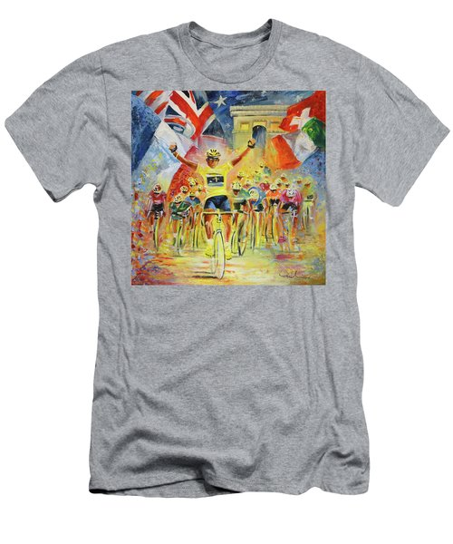 The Winner Of The Tour De France Men's T-Shirt (Athletic Fit)