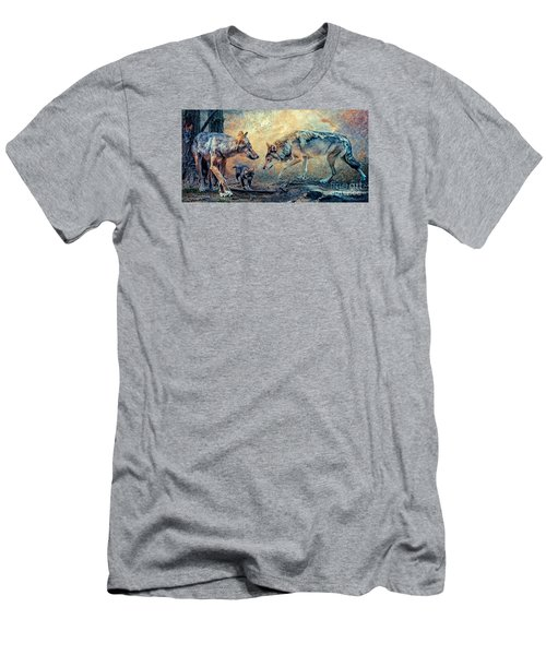 Men's T-Shirt (Slim Fit) featuring the photograph The Wolf Family by Brian Tarr