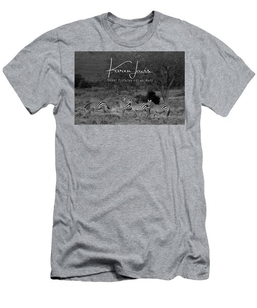 Men's T-Shirt (Slim Fit) featuring the photograph The Zebra Tree by Karen Lewis