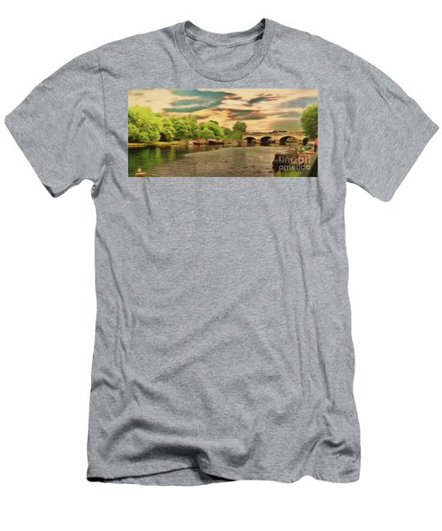 This Morning On The River Men's T-Shirt (Athletic Fit)