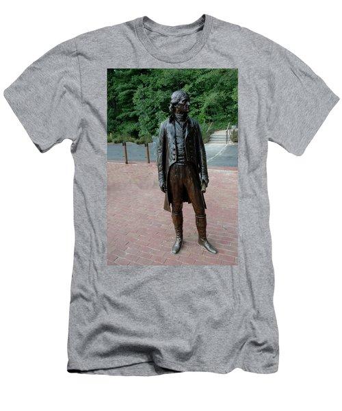Thomas Jefferson At Monticello Men's T-Shirt (Athletic Fit)