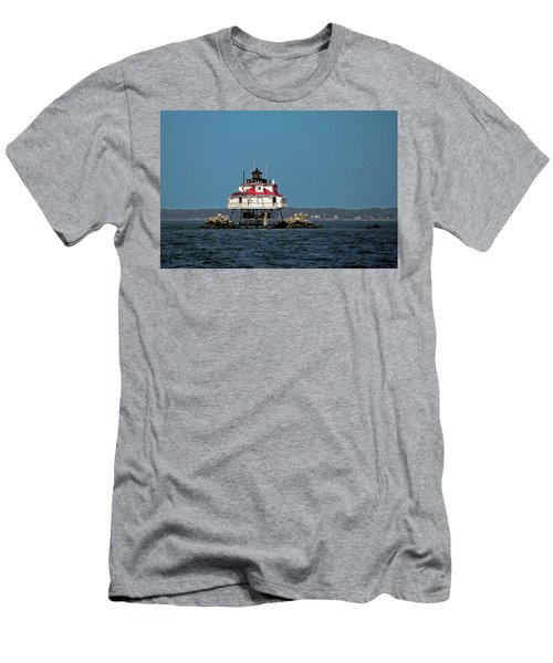 Thomas Point Shoal Light Men's T-Shirt (Athletic Fit)