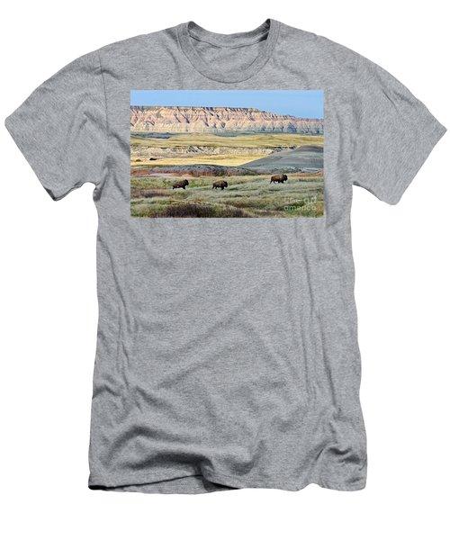 Three Bison Bulls Men's T-Shirt (Athletic Fit)