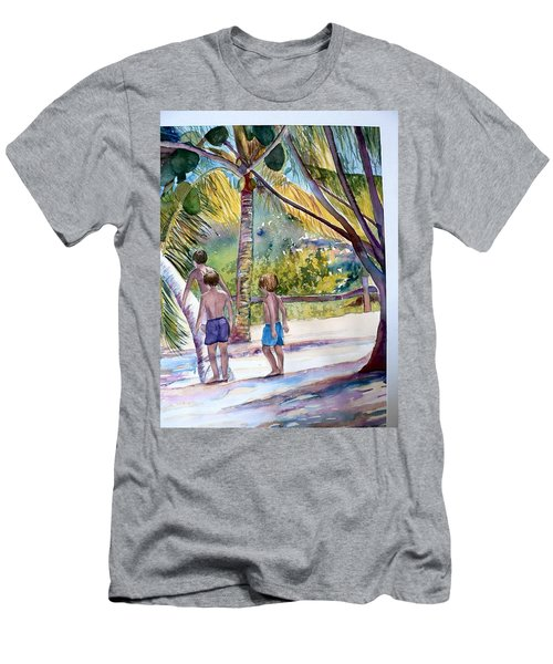 Three Boys Climbing Men's T-Shirt (Athletic Fit)