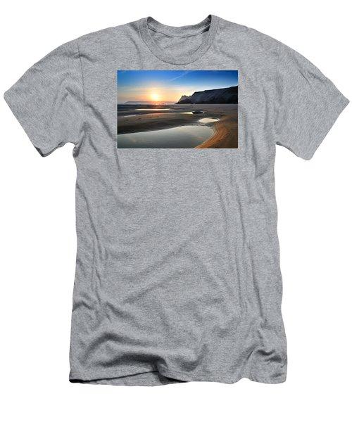 Three Cliffs Bay 2 Men's T-Shirt (Athletic Fit)
