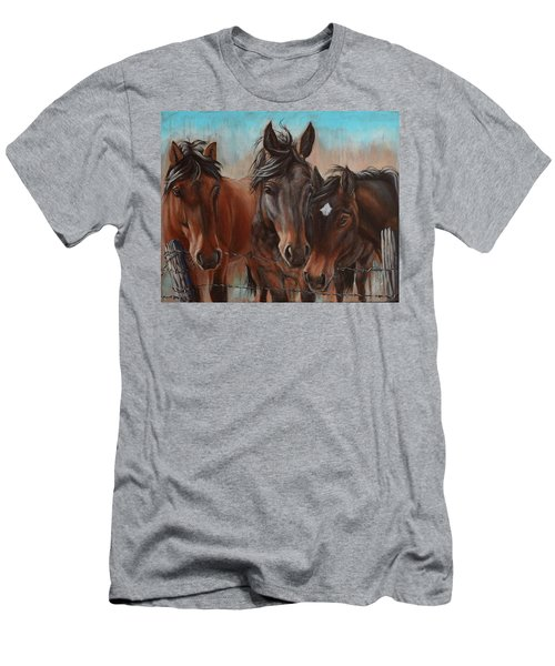 Three Curious Friends Men's T-Shirt (Athletic Fit)