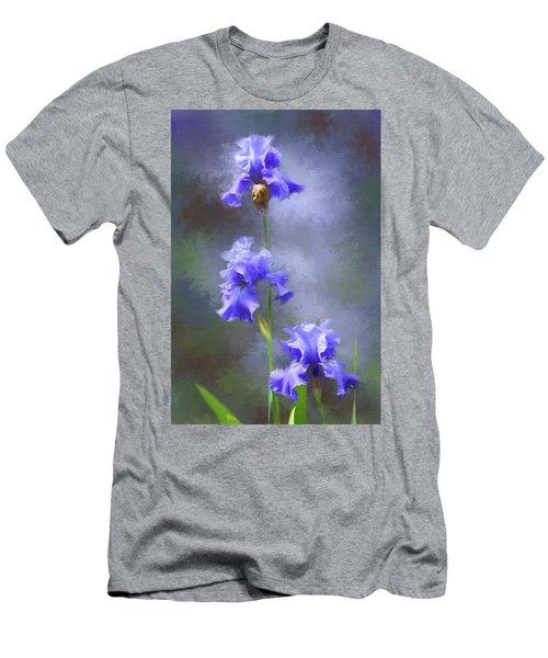 Three Iris Men's T-Shirt (Slim Fit) by Lena Auxier