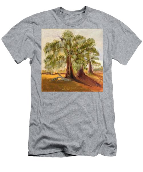 Three Live Oaks With Spanish Moss In A Florida Cow Pasture Men's T-Shirt (Athletic Fit)