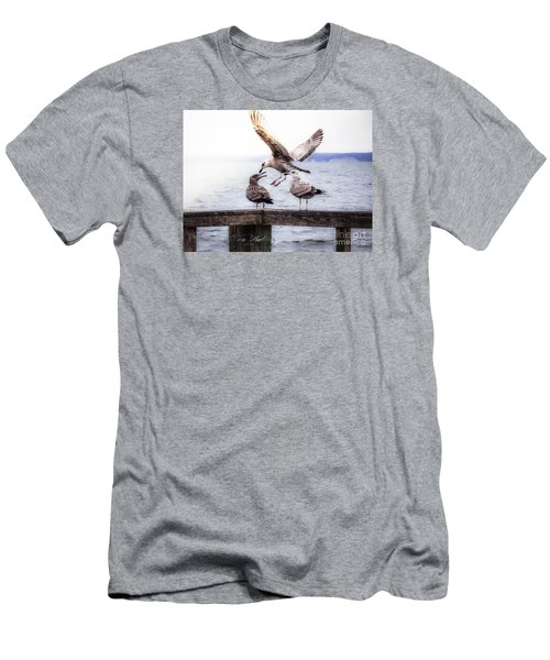 Three Of A Kind Men's T-Shirt (Slim Fit) by Melissa Messick
