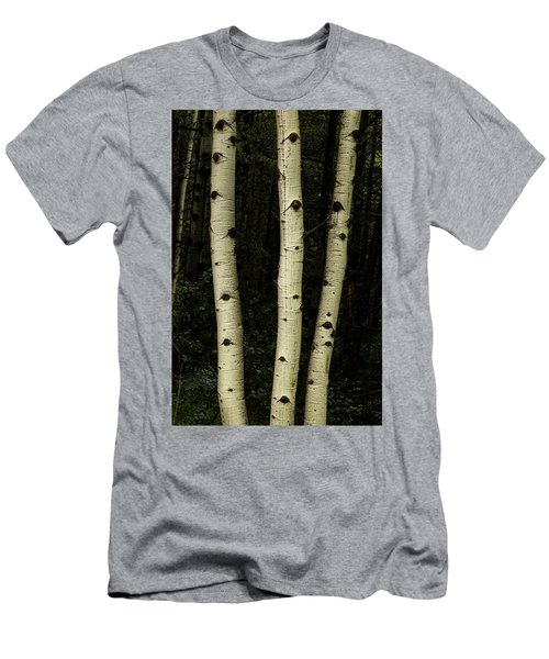 Men's T-Shirt (Athletic Fit) featuring the photograph Three Pillars Of The Forest by James BO Insogna
