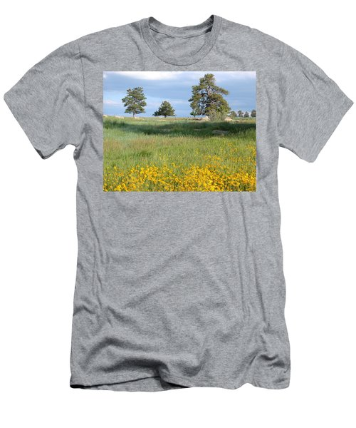 Men's T-Shirt (Athletic Fit) featuring the photograph Three Trees by Joseph R Luciano