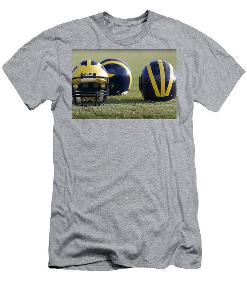 Three Wolverine Helmets Men's T-Shirt (Athletic Fit)