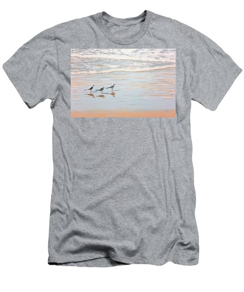 Three's A Crowd Men's T-Shirt (Athletic Fit)