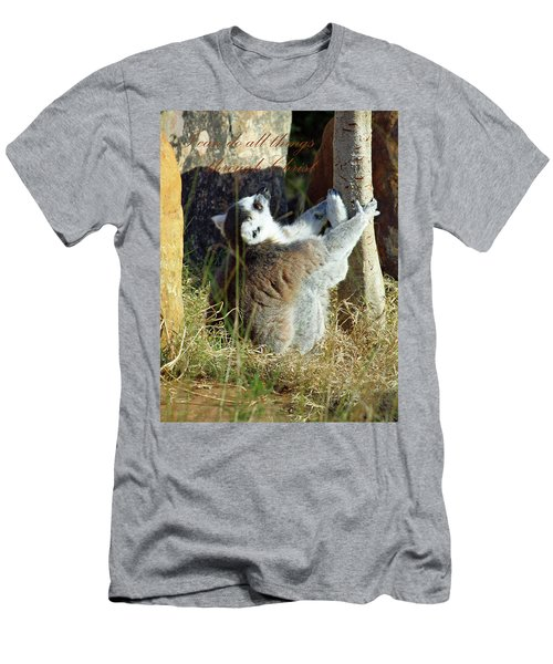 Through Christ Men's T-Shirt (Slim Fit) by Inspirational Photo Creations Audrey Woods