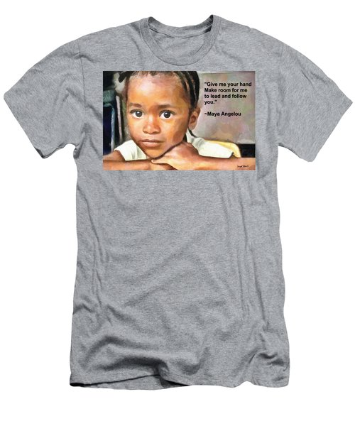Men's T-Shirt (Slim Fit) featuring the painting Through The Eyes Of A Child by Wayne Pascall