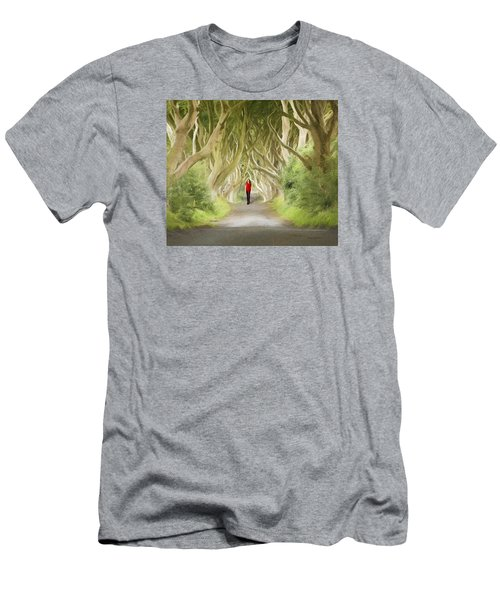 Through The Trees Men's T-Shirt (Slim Fit) by Roy  McPeak