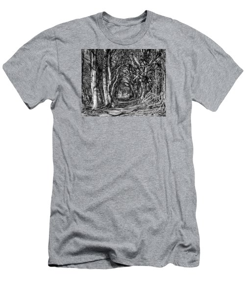 Through The Tunnel Bw 16x20 Men's T-Shirt (Athletic Fit)