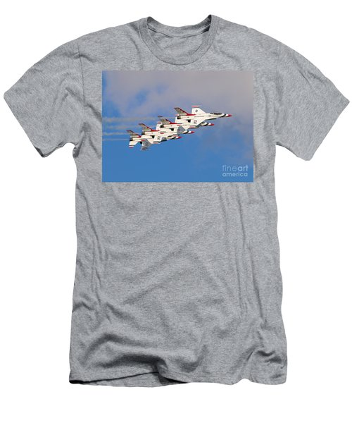 Thunderbirds Stacked 2 Men's T-Shirt (Athletic Fit)