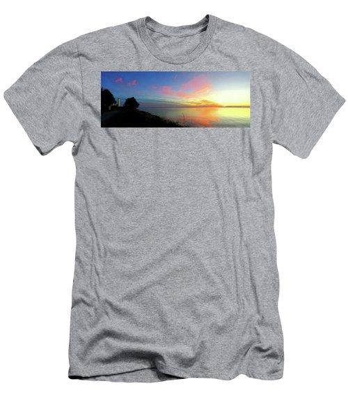 Sunset At Tibbetts Point Light, 2015 Men's T-Shirt (Athletic Fit)