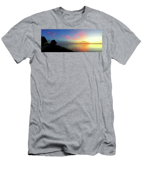 Sunset At Tibbetts Point Light, 2015 Men's T-Shirt (Athletic Fit)
