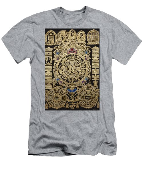 Tibetan Astrological Diagram Men's T-Shirt (Slim Fit) by Serge Averbukh