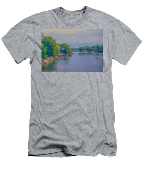 Tidal Inlet In Southern Maine Men's T-Shirt (Athletic Fit)