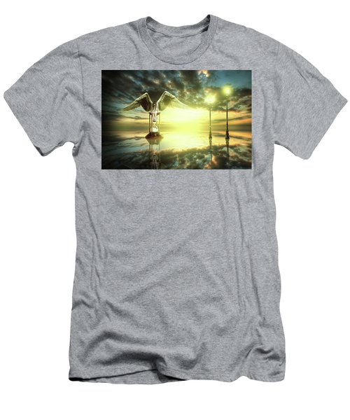 Men's T-Shirt (Slim Fit) featuring the digital art Time To Reflect by Nathan Wright