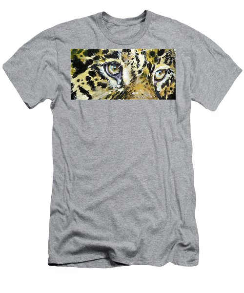 Men's T-Shirt (Slim Fit) featuring the painting Tiger Eyes by Kovacs Anna Brigitta