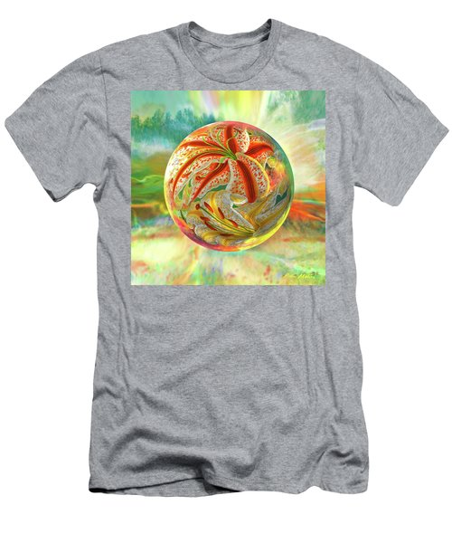 Men's T-Shirt (Slim Fit) featuring the digital art Tiger Lily Dream by Robin Moline