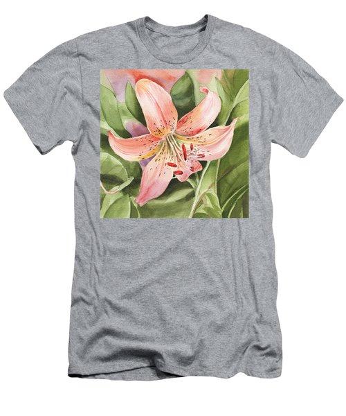 Tiger Lily Watercolor By Irina Sztukowski Men's T-Shirt (Athletic Fit)