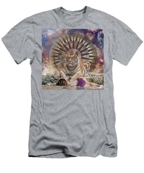 Tiger Spirit Animal Men's T-Shirt (Athletic Fit)