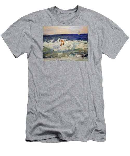 Tightrope Walking The Waves Men's T-Shirt (Athletic Fit)
