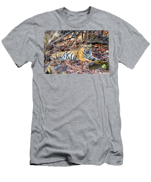Tigress In The Woods Men's T-Shirt (Slim Fit) by Pravine Chester