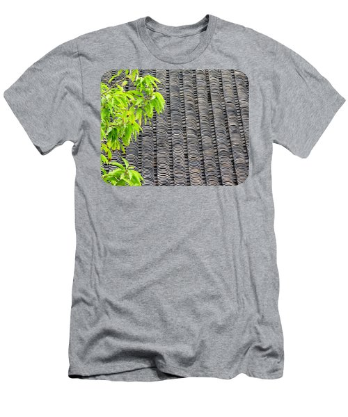 Tiled Roof Men's T-Shirt (Slim Fit) by Ethna Gillespie