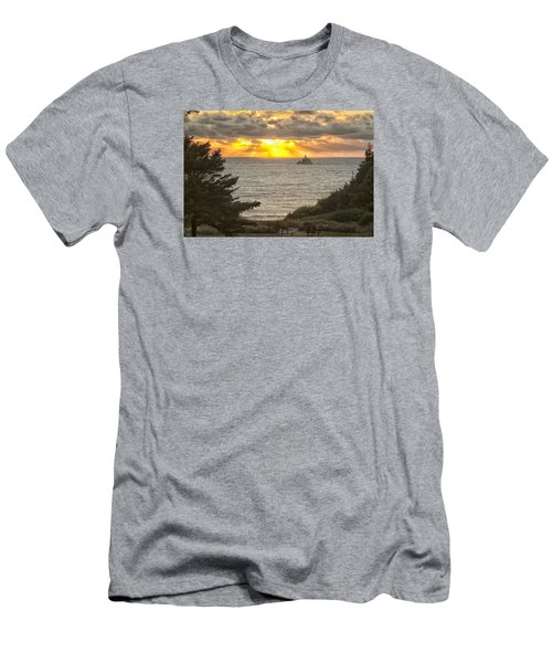 Men's T-Shirt (Slim Fit) featuring the photograph Tillamook Rock Lighthouse 0402 by Tom Kelly