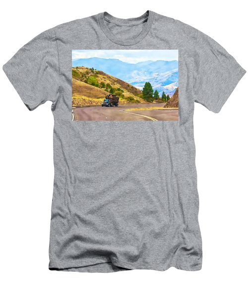 Timbers Truck In Idaho Men's T-Shirt (Athletic Fit)