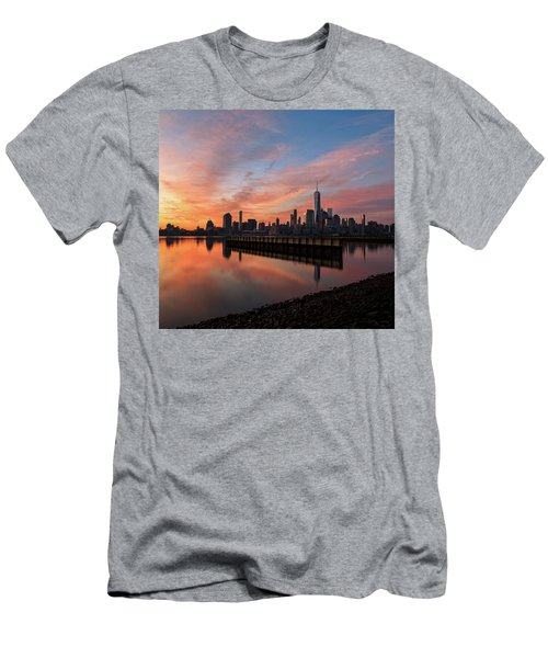Time To Reflect  Men's T-Shirt (Slim Fit) by Anthony Fields