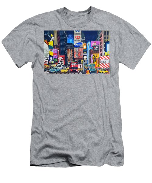 Times Square Men's T-Shirt (Slim Fit) by Autumn Leaves Art