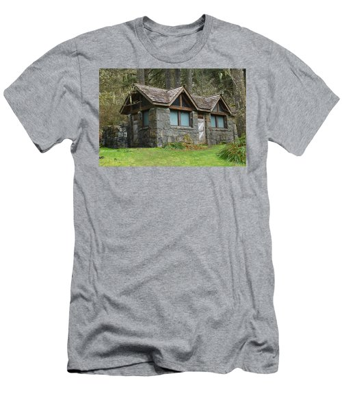 Tiny House In The Woods Men's T-Shirt (Slim Fit) by Angi Parks