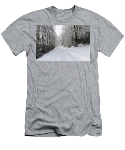 Tire Tracks In Fresh Snow Men's T-Shirt (Athletic Fit)