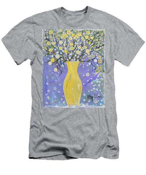 To Brighten Your Evening Men's T-Shirt (Slim Fit) by Evelina Popilian