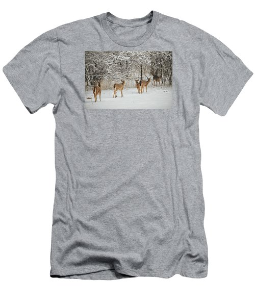 Men's T-Shirt (Slim Fit) featuring the photograph To Greet A Friend by Nikki McInnes