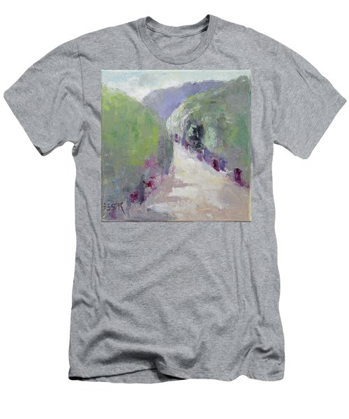 To Mountain Men's T-Shirt (Slim Fit) by Becky Kim