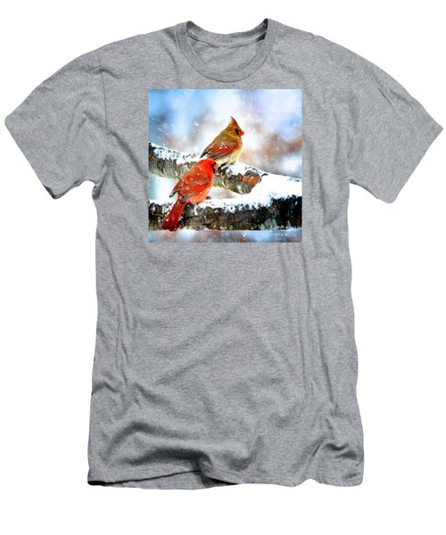 Together In The Snow Men's T-Shirt (Slim Fit) by Nava Thompson