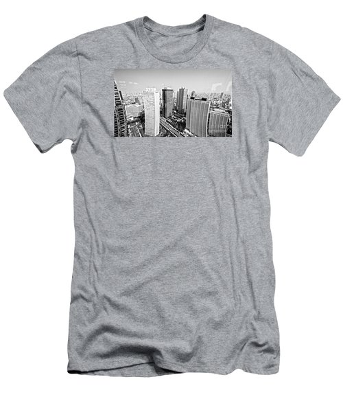 Men's T-Shirt (Slim Fit) featuring the photograph Tokyo Skyline by Pravine Chester