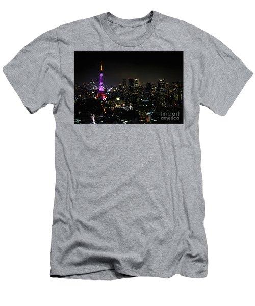 Tokyo Tower Cityscape Men's T-Shirt (Athletic Fit)
