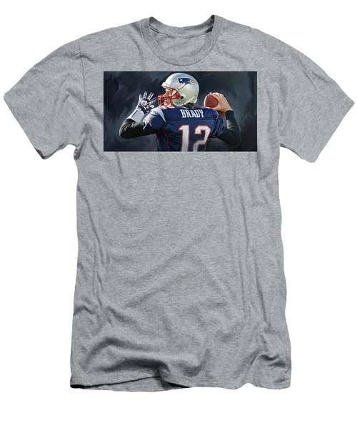 Men's T-Shirt (Slim Fit) featuring the painting Tom Brady Artwork by Sheraz A