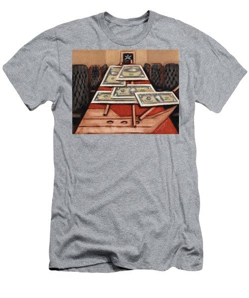 Tommervik War Strategies Pirate Ship Art Print Men's T-Shirt (Athletic Fit)