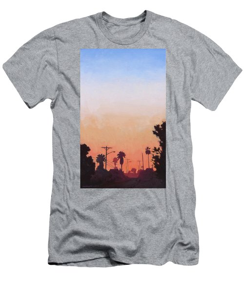 Men's T-Shirt (Slim Fit) featuring the painting Tonal Hollywood by Andrew Danielsen