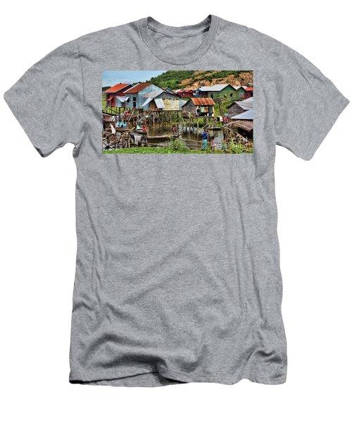 Tonle Sap Boat Village Cambodia Men's T-Shirt (Athletic Fit)